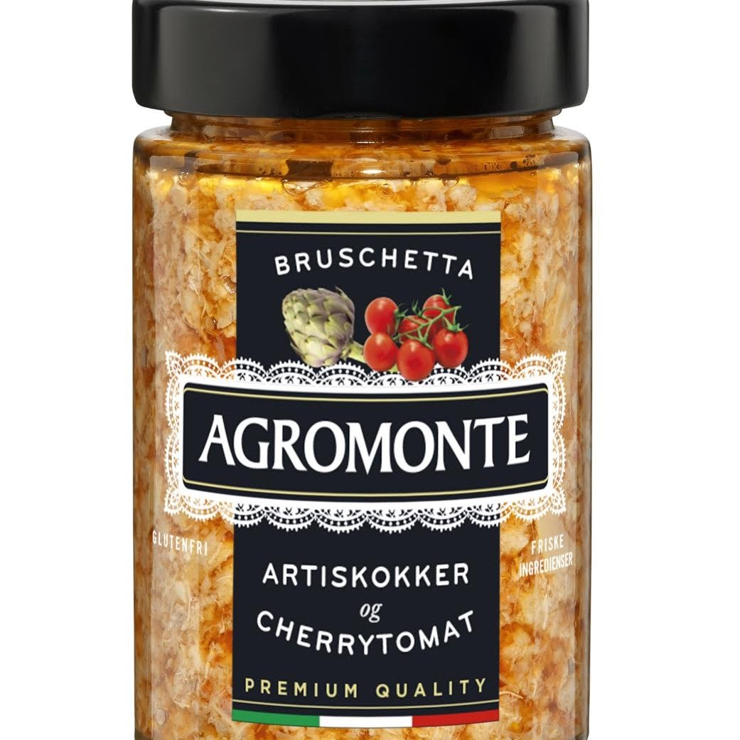Bruschetta Spread. Artiskok & Cherrytomat. Agromonte. 200 gram