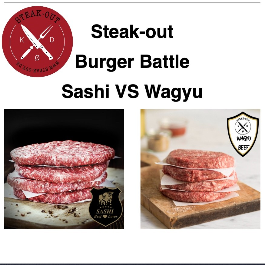 Steak-out Burger Battle. Sashi VS Wagyu. 1.6 kg