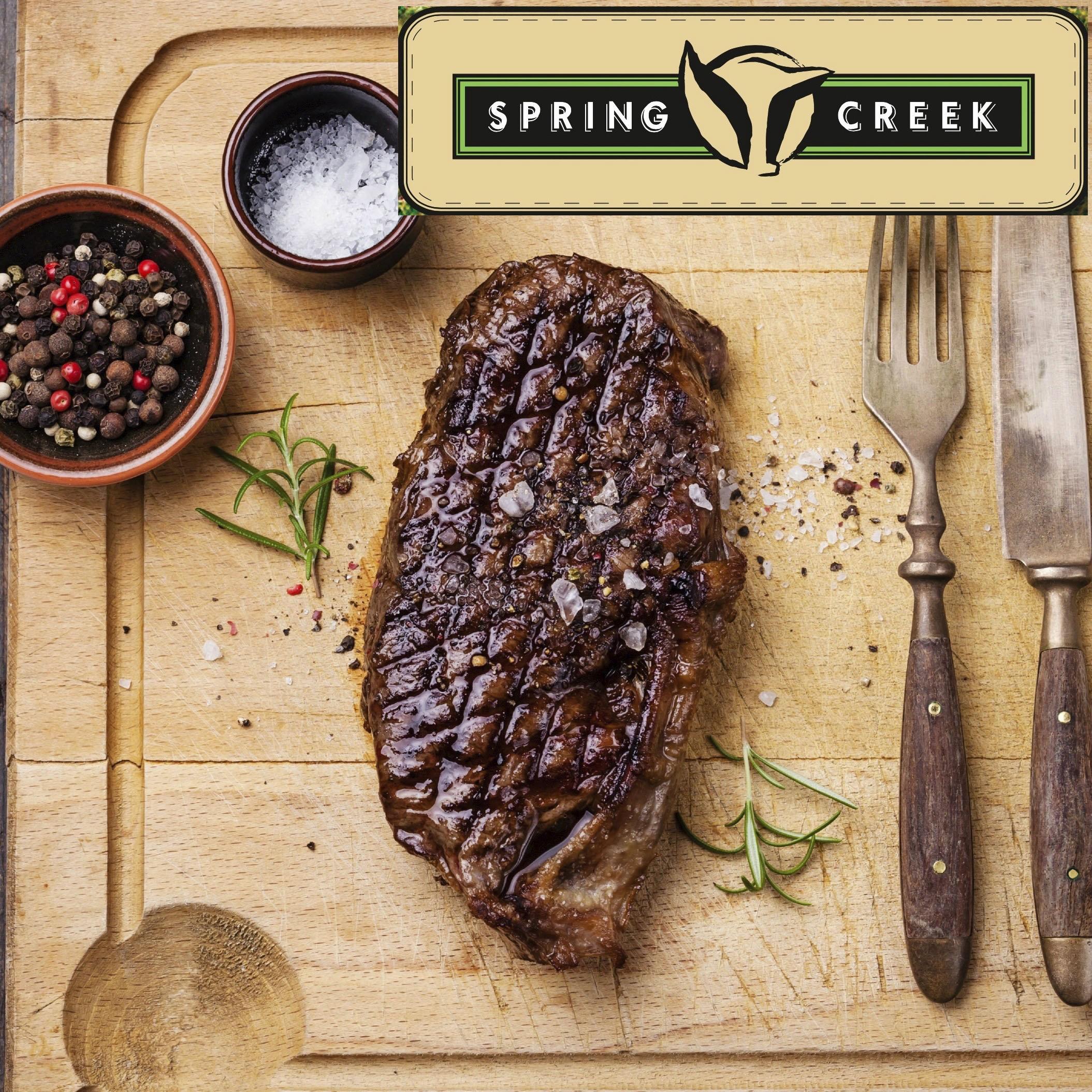 striploin steaks 2 stk. Spring Creek