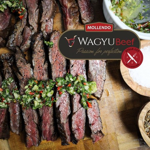Flank Steak. Mollendo Wagyu. Mbs 5+