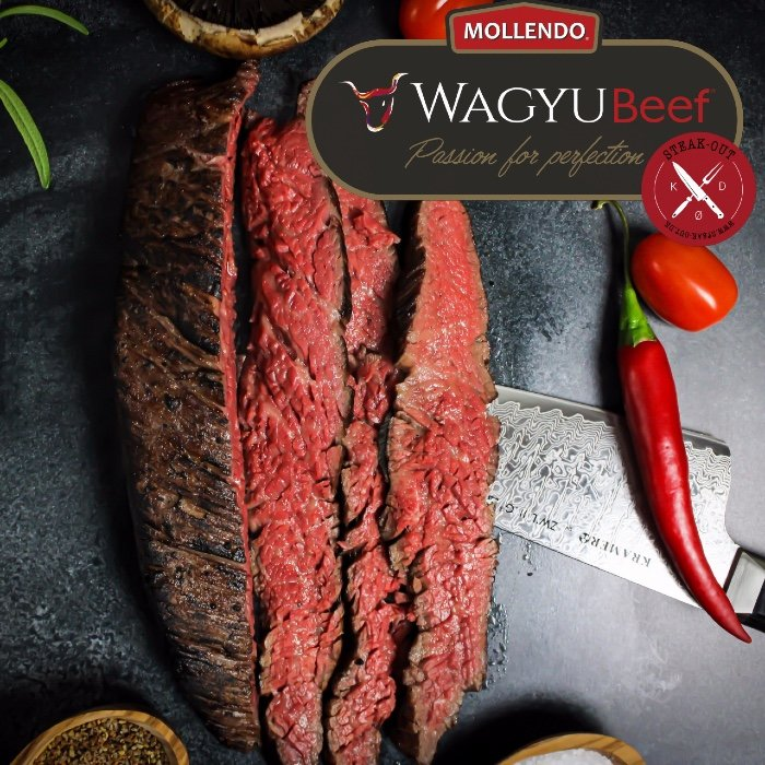 Flap Meat. Mollendo Wagyu. Mbs 5+