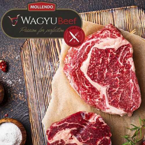 Ribeye steaks. 2 stk.. Mollendo Wagyu. Mbs 5+
