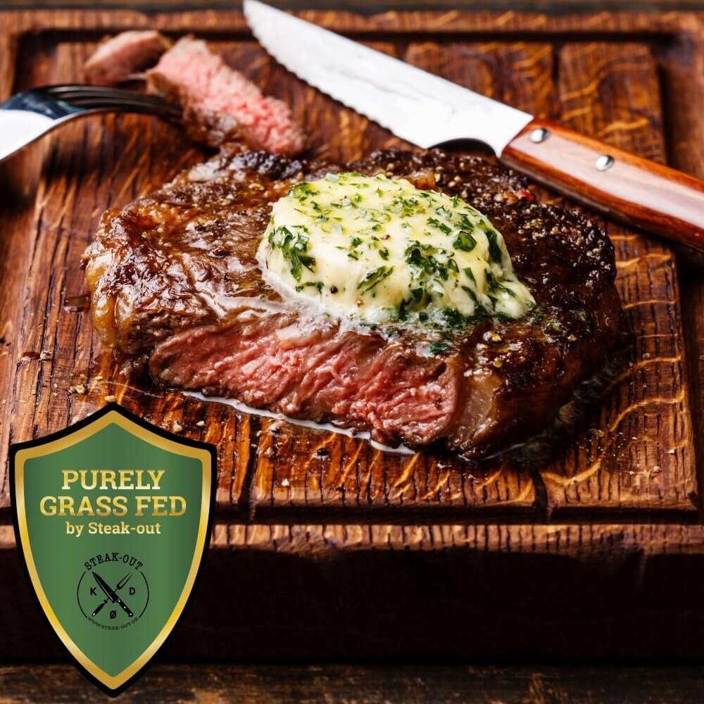 Ribeye Steaks. Purely Grass Fed by Steak-out. New Zealand