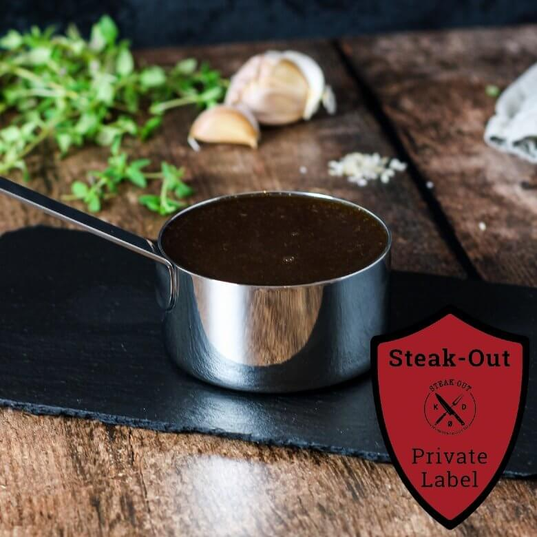 Glace m. Krydderurter. Steak-out Private Label. 500 gram