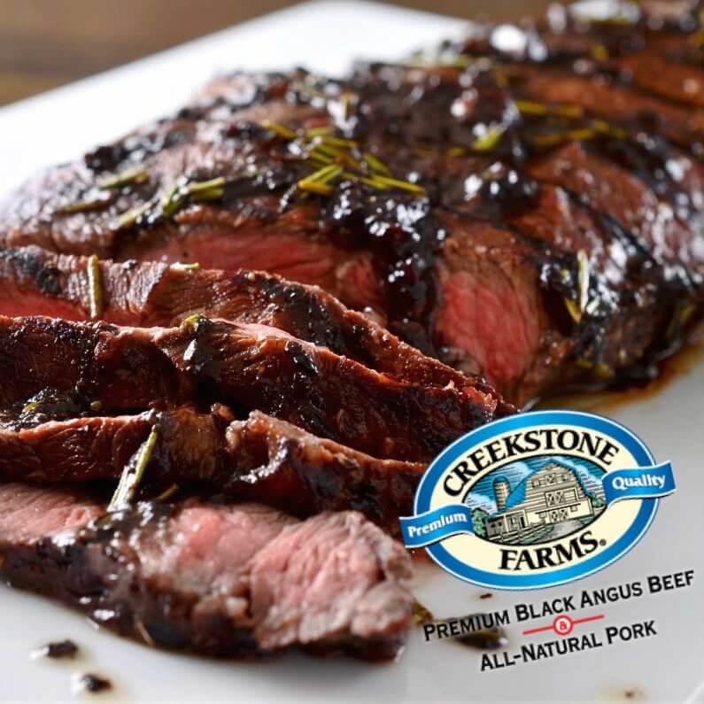 Flat-iron Steaks. Creekstone Farms