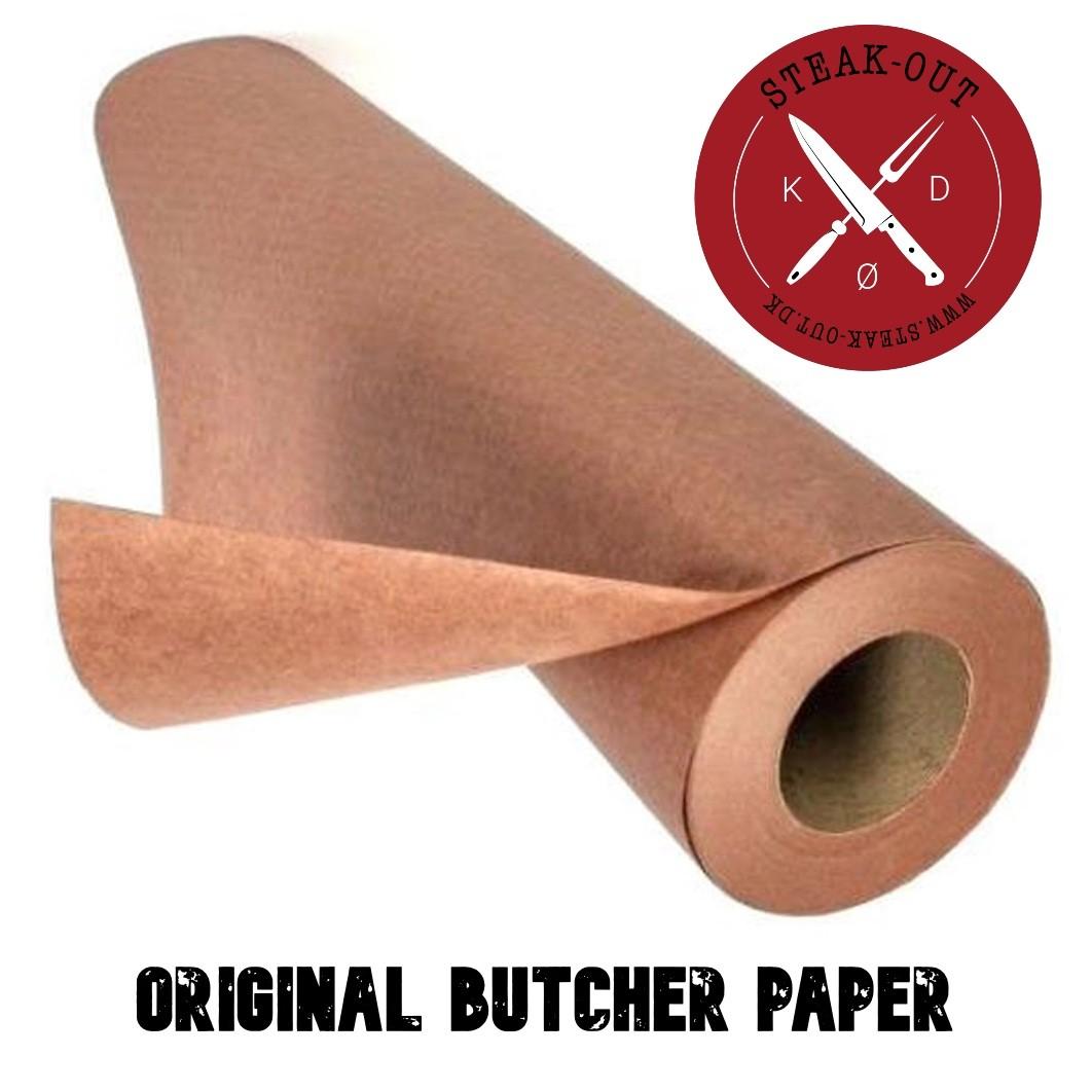 Pink Butcher paper på rulle.