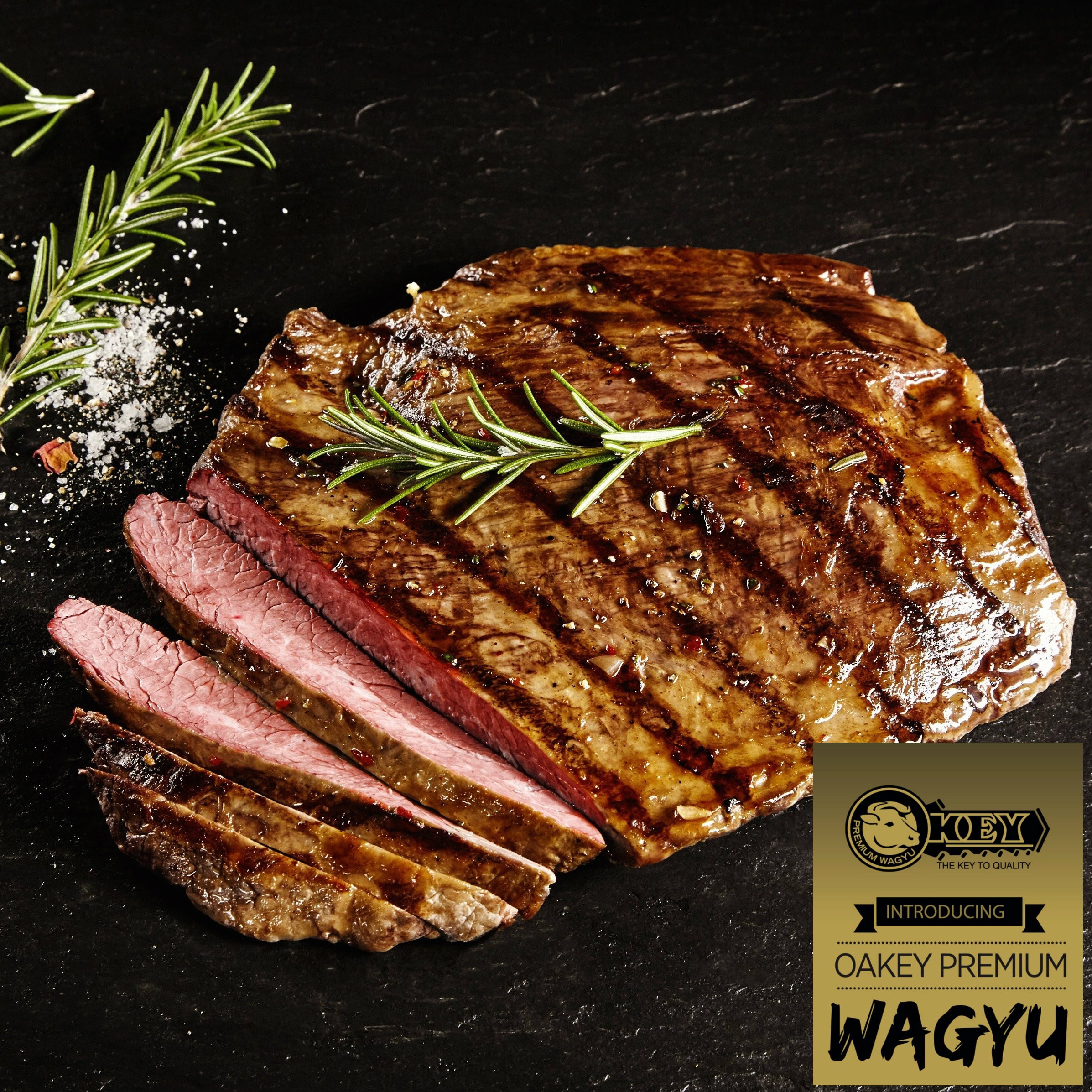 Flank. Oakey Premium Wagyu. Mbs 3-5
