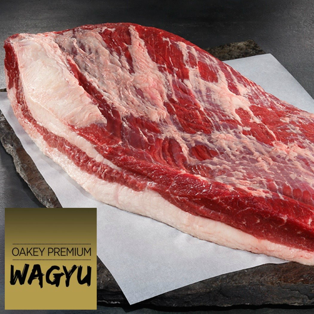 Brisket full packer. Oakey Premium Wagyu. Mbs 3-5.