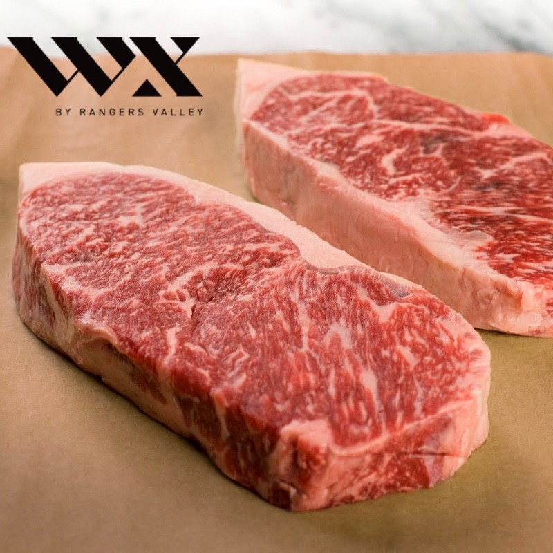 Wagyu Striploin, halv. mbs 5+. WX by Rangers Valley