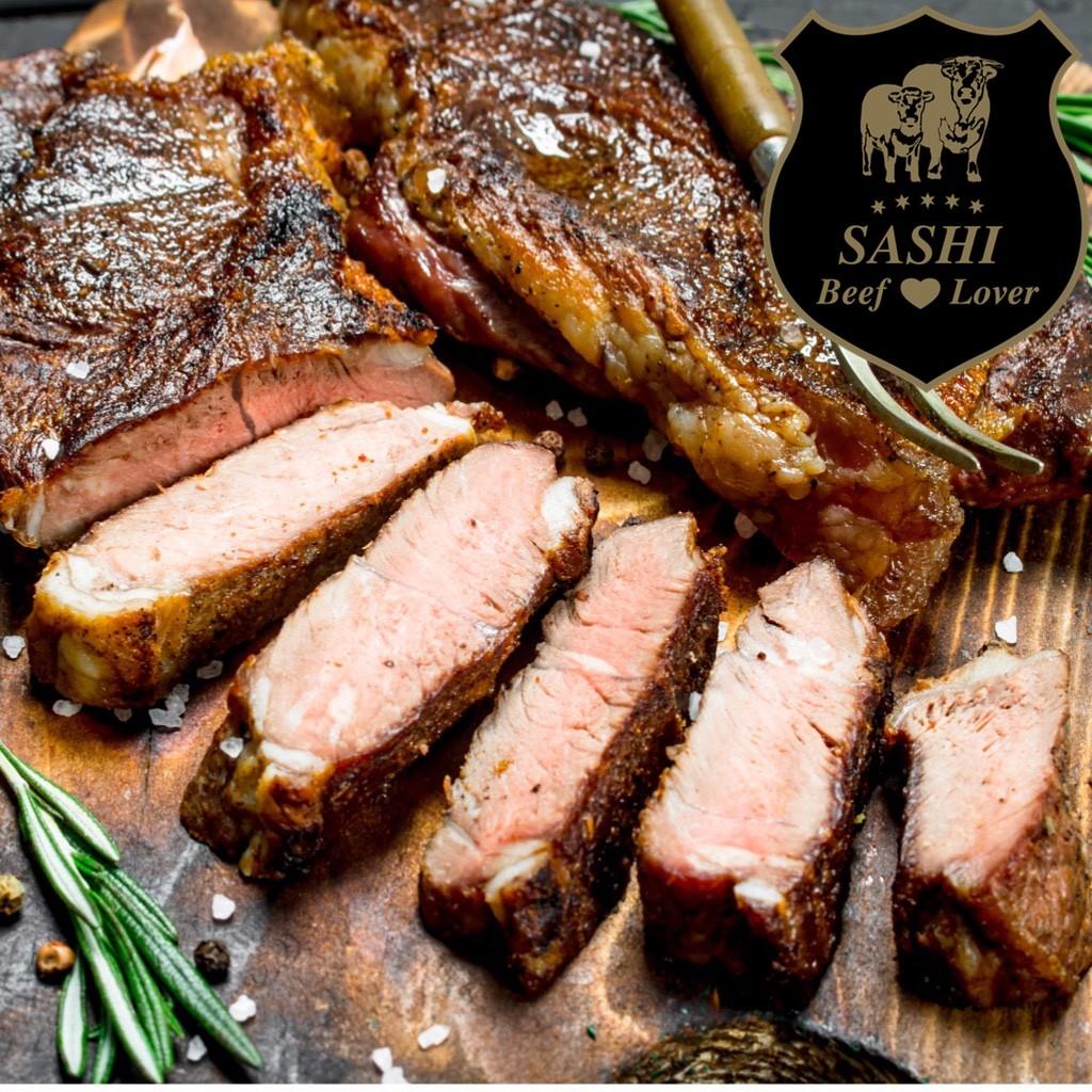 Sashi Striploin steaks (2 styk). Ca. 400 gram