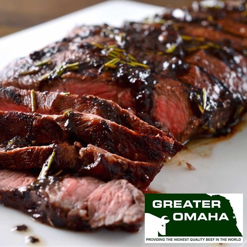 Top blade/Flat-iron. Greater Omaha Packing