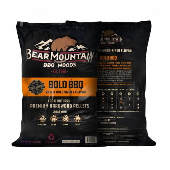 Bear Mountain træpiller. Bold BBQ. 9 Kg