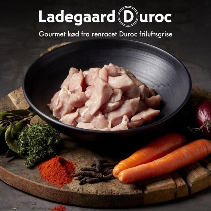 Kød i tern. Dansk krogmodnet fra Ladegaard Duroc