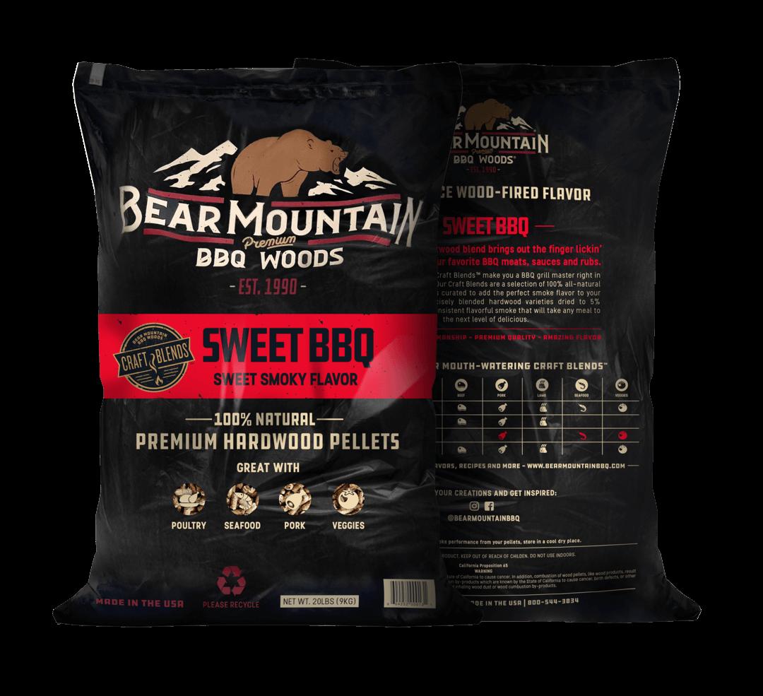 Bear Mountain træpiller. Sweet BBQ. 9 Kg