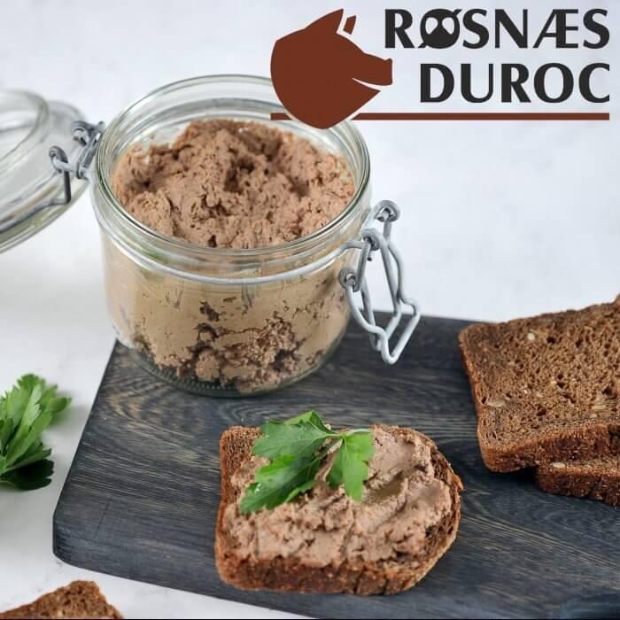 Bag selv Leverpostej 450 gram - af Røsnæs Duroc.