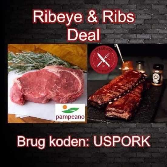 Steak-out Ribeye & Ribs deal. Ca. 10 kg