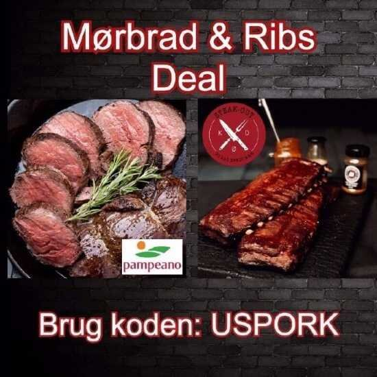 Steak-out Mørbrad & Ribs deal. Ca. 13 kg