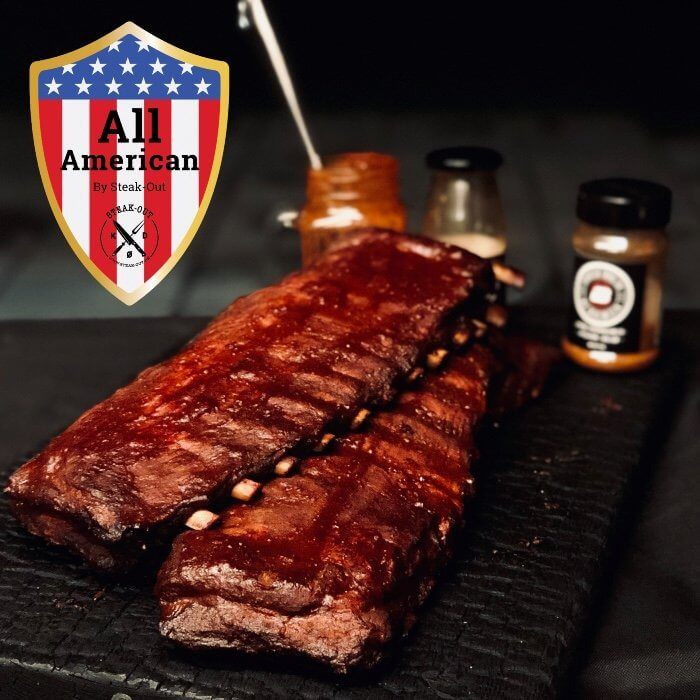 Steak-out Ribs kit. All American St. Louis cut