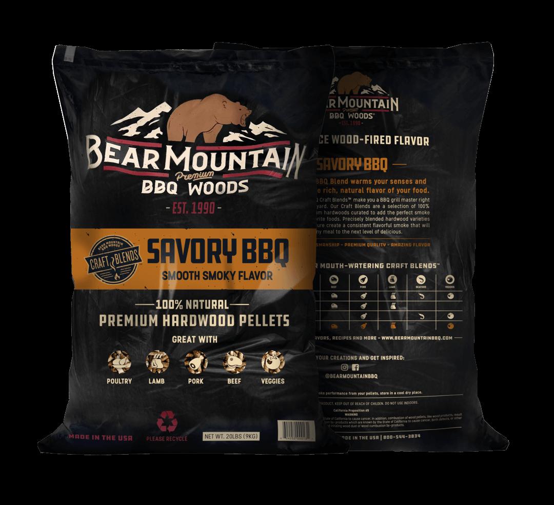 Bear Mountain træpiller. Savoury BBQ. 9 Kg