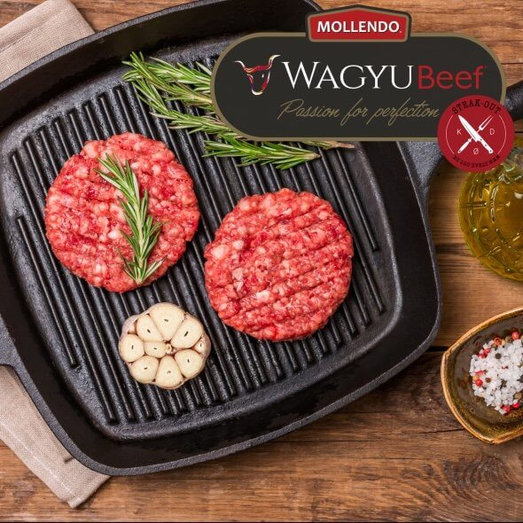 Steak-out Wagyu Burgers - Mollendo. 8 x 200 gram.