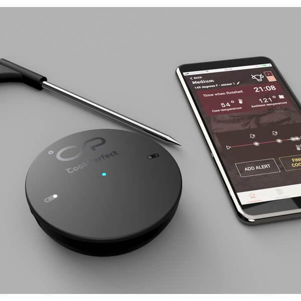 Cookperfect. Black Edition. Bluetooth stegetermometer